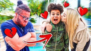MY LITTLE BROTHER FLIRTS WITH MY GIRLFRIEND IN FRONT OF ME!! *I GOT JEALOUS AND RAGED!!*