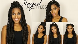 Gambar cover 7 BEST HAIRSTYLES! How-to Style Your Protective Hairstyle (For Twists & Braids)