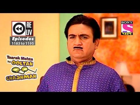 Weekly Reliv - Taarak Mehta Ka Ooltah Chashmah - 09th June 2018 to 15th June 2018 - Ep 1196 to 1209