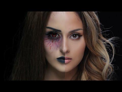 Maquillage Halloween facile pour femme , fantôme