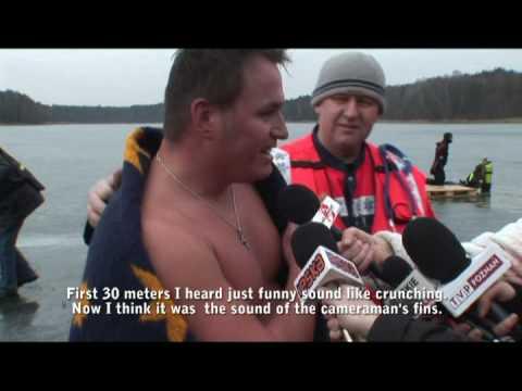 Rekord świata w nurkowaniu pod lodem bez płetw