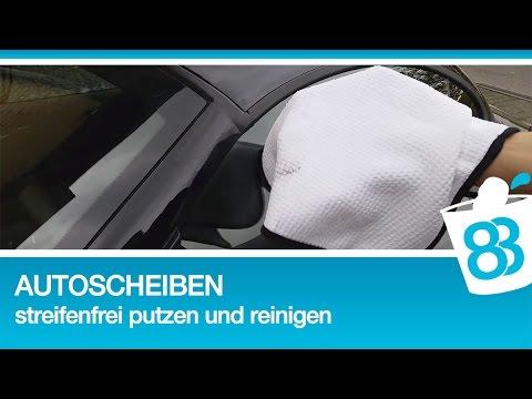 Autoscheiben und Windschutzscheibe streifenfrei putzen und reinigen