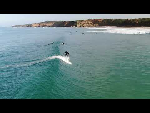 Drone footage of fun wave at Jan Juc