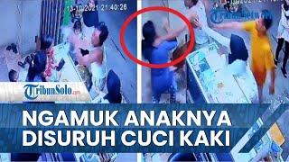 Viral Video Pria Marahi dan Cekik Tetangga, Diduga Tak Terima Anaknya Disuruh Cuci Kaki saat Bertamu