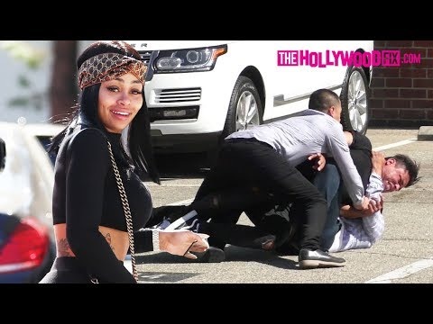 Blac Chyna & Mechie Survive Paparazzi Fight At Saks Fifth Avenue In Beverly Hills 7.28.17