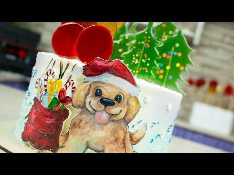 Мастер-класс новогоднего торта с медовыми леденцами