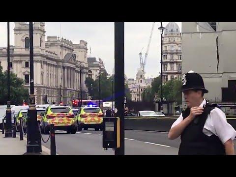 Pedestrians hurt as car hits barrier at UK parliament, man arrested