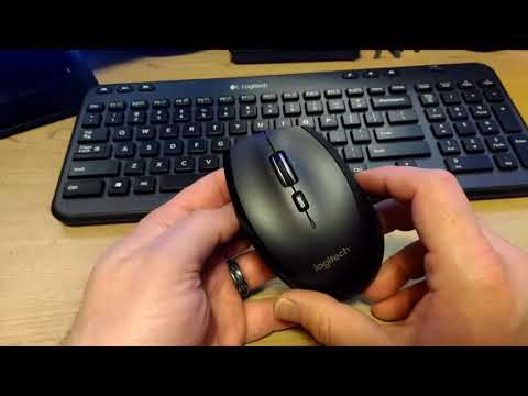 Logitech Unifying M705 Marathon Mouse Unboxing and Review