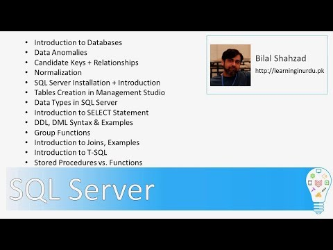 Learn Databases from Developer Perspective (7 hours) Training - Urdu/Hindi