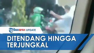 Viral Video Pria Tendang Ojol di Pekanbaru, Ratusan Driver Tak Terima & Kepung Rumah Terduga Pelaku
