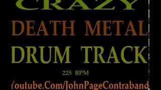 Technical Death Metal Drum Backing Track Brutal Crazy 225 BPM Extreme