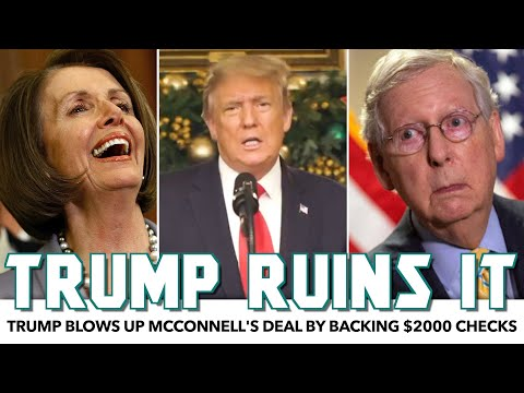 Trump Sides With Bernie, Blows Up McConnell's Relief Deal With One Speech