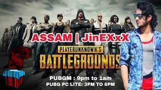 🔴 PUBG LIVE |  Back to Back Chicken Dinner with ASSAM | JinEXxX