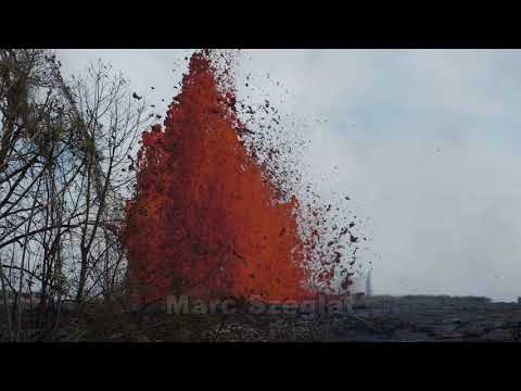 Kilauea: Eruption der Spalte 22