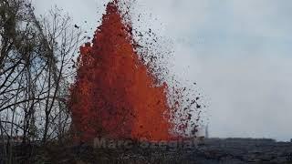Kilauea: Eruption der Spalte 22