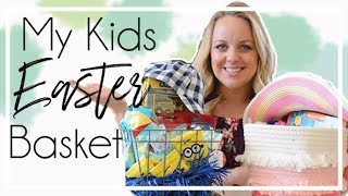 What's In My Kid's Easter Basket 2018 | 3.5 Year Old & 2 Year Old