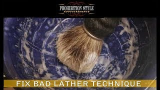 How To Lather Hard To Lather Soaps Geo F Trumpers Hard Soap And Williams Mug Soap