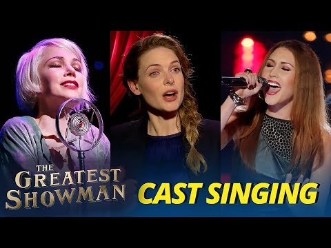 The Greatest Showman Cast Singing (Michelle Williams & Loren Allred) - Funny Actors
