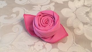 How To Fold A Cloth Napkin Into A Rose In 72 Seconds
