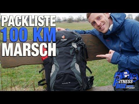 PACKLISTE für 100 km Märsche & Extremwanderungen // Rucksack für 100 km-Wanderung packen