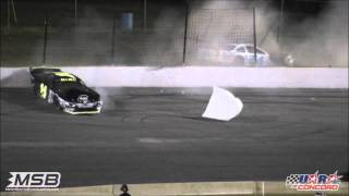 """""""The Crash"""" from the 8-4-12 UARA-STARS City Chevrolet 150 at Concord Speedway"""