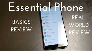Essential Phone Basics Video (Real World Review)