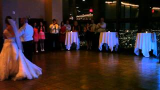 """Our First Dance - """"All the Way Home"""" by Frank Sinatra."""
