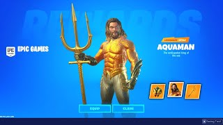 UNLOCKING Aquaman Skin and ITEMS in Fortnite! (SIMPLE)