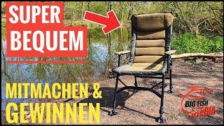 Unboxing & Gewinnen: Karpfenstuhl MK Kingsize Recliner Pro Carp Chair