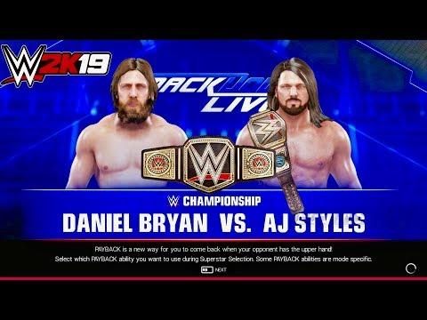 WWE 2K19 || Daniel Bryan VS  AJ Styles || WWE Championship Match   Smackdown Live  - Prediction