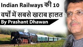 Indian Railways की 10 वर्षों में सबसे खराब हालत Current Affairs 2019 #UPSC