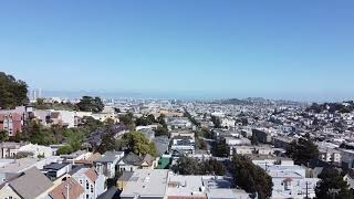 Flying drone in San Francisco