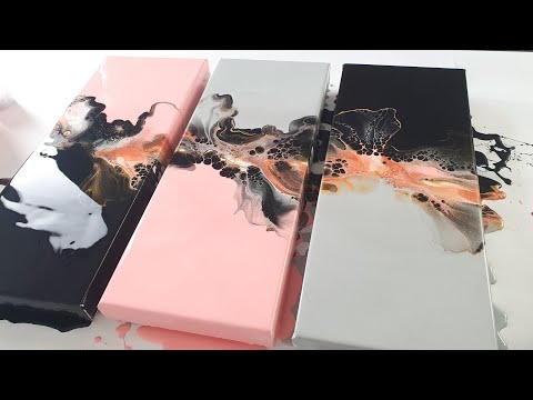acrylic pour painting with candy pink by rinske douna