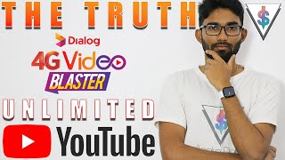 Unlimited YouTube by Dialog 4G Video Blaster - Is it really unlimited? 🇱🇰