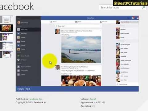 Windows 8.1 - Facebook Official App