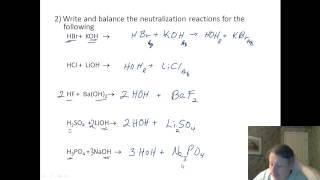 Acids 04 Worksheet - Neutralization Reactions