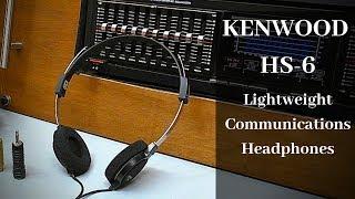 Kenwood HS-6 Radio Communication  Headphones