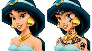 What If Disney Princesses Had Tattoos?