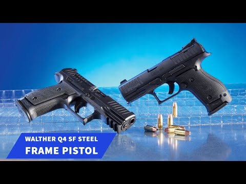 walther:                                                                                                                                                      Brand new: Walther Q4 SF, the short version of the 9mm Steel Frame pistol