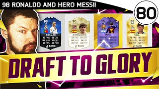 98 Ronaldo & HERO Messi!! FUT DRAFT TO GLORY #80 - FIFA 16 Ultimate Team Gameplay