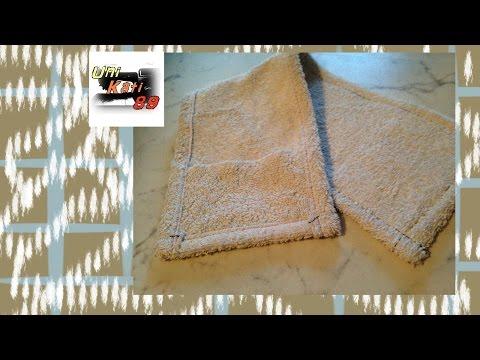 Wischbezug aus Handtuch nähen Anleitung Upcycling DIY Bodentuch #UniKati89