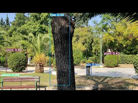 VR-Park A.I. – Objects identification in urban parks (test video 3)