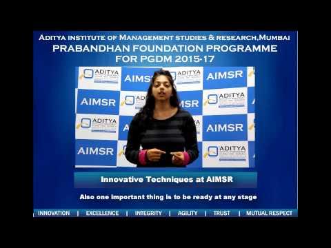 Aditya Institute of Management Studies & Research video cover1