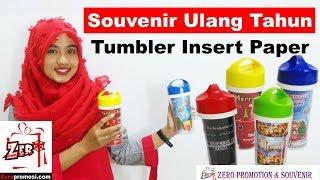 Souvenir Ulang Tahun Tumbler Insert Paper T88