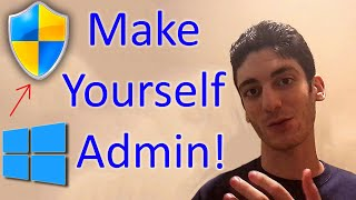 How to make yourself admin WITHOUT knowing password on Windows!