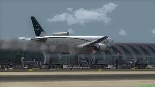 Plane Crash Abu Dhabi PIA 777-200 [Engine Fire] - Самые