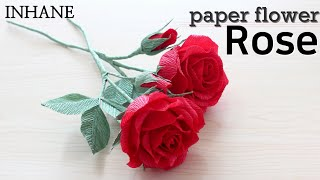 How To Make Red Rose With Crepe Paper: Rose Paper Flower