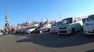 Встречаем авто из Японии, проверка сразу возле таможни, Honda Fit, гибрид, ЦЕНА
