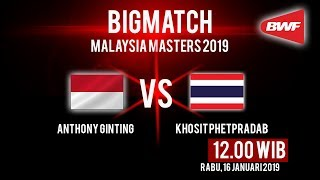 Live Streaming Malaysia Masters 2019, Anthony Ginting Ditantang Wakil Thailand