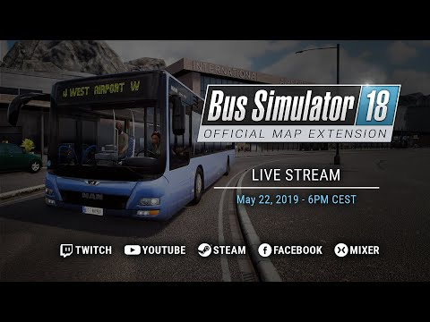 Bus Simulator 18 - Official Map Extension | Release Live Stream thumbnail